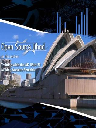 The image of the Opera House in Al-Qaeda's official magazine, Inspire. Picture: All Things Counter Terrorism