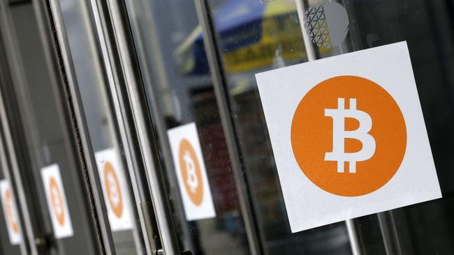 Bitcoin's value rose quickly, before it's plummeting. Picture: AP Photo/Mark Lennihan.