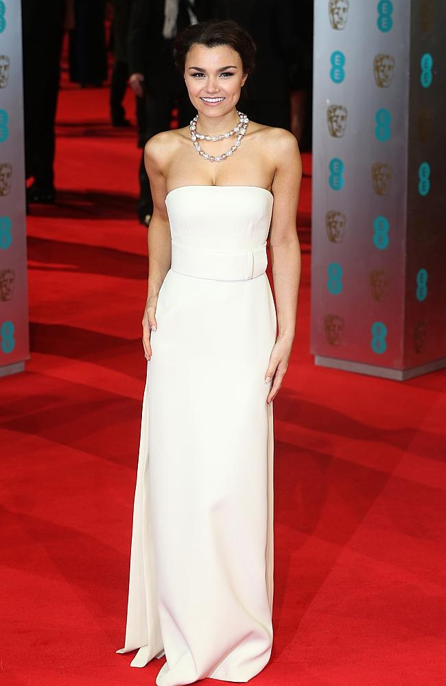 Samantha Barks attends the EE British Academy Film Awards 2014 at The Royal Opera House.