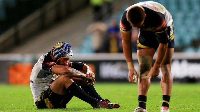Jonathan Thurston was dejected after another loss on the road.