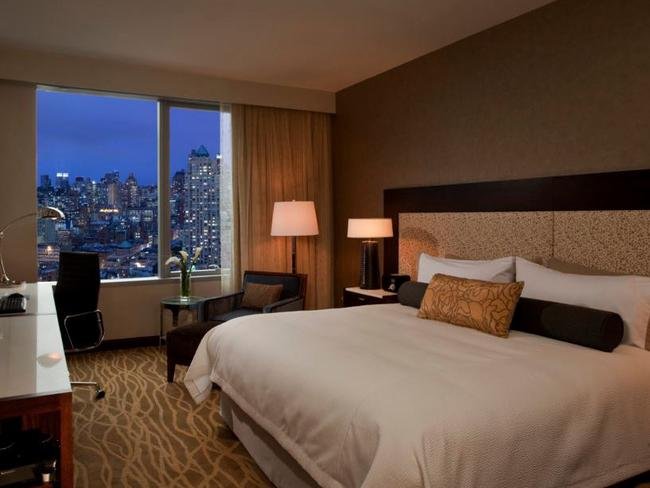 One of the rooms of the InterContinental Hotel New York Times Square.