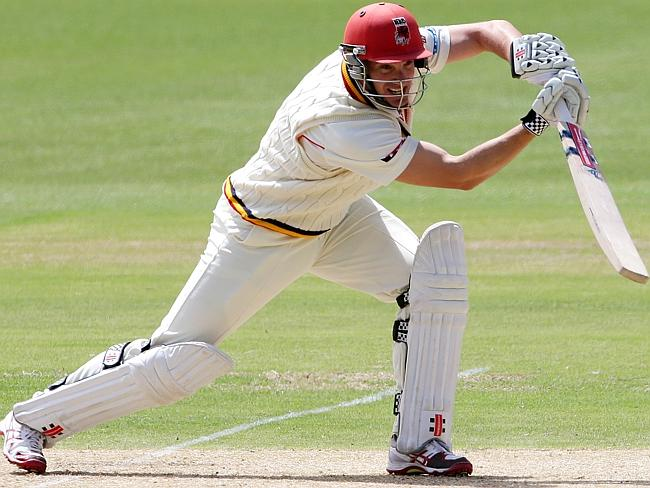 Michael Klinger in action for the Redbacks for whom he averaged 43 runs in 56 Shield games.