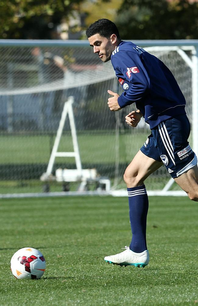 Melbourne Victory's Tom Rogic during training on Satruday. Picture: GEORGE SALPIGTIDIS