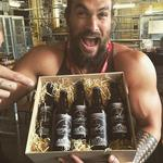 """Jason Momoa in Dublin, """"Just brewed the first ever. MOMOA brew. The Mano. The first sour. From Guinness. Come down and try. I'm officially blown away love u."""" Picture: Instagram"""