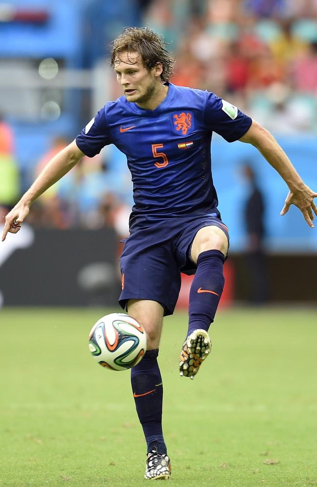Netherlands' defender Daley Blind in action against Spain.
