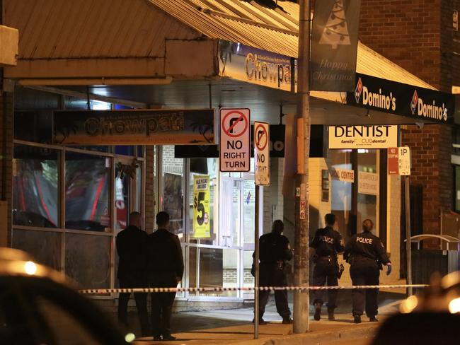 During the confrontation, the 21-year-old man was shot and the armed man fled. Picture: Steve Tyson