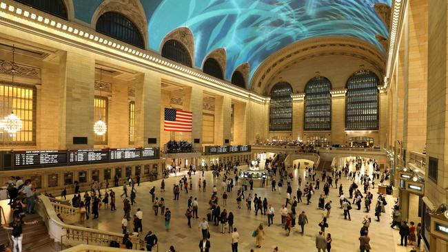 New York's Grand Central was named best major rial hub in the world because of it's key role in the city's life. Picture: AFP PHOTO / LUDOVIC MARIN