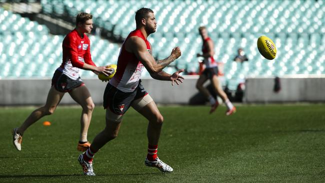 Franklin at Swans training during the week.