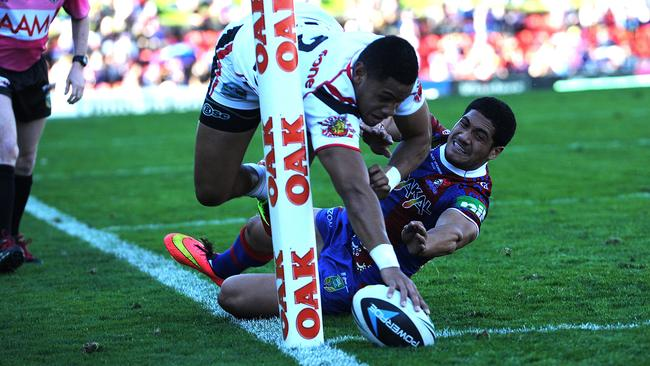Warriors winger David Fusitua scored another spectacular try.