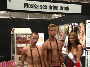Back when MosKa openly branded itself as the 'sex drive drink' at Sexpo Sydney. Photo: Twitter