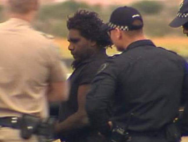 Dudley Davey after his arrest. Picture: Channel 7