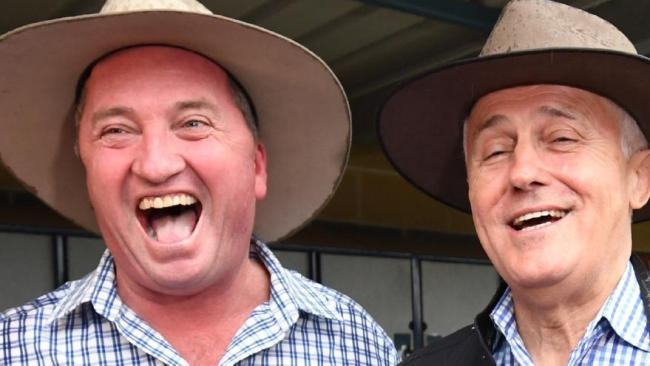 Barnaby Joyce with Malcolm Turnbull