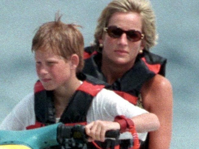 Princess Diana with sons Harry and William spent the summer holiday with friends at Mohammed Al Fayed's rented villa in Saint-Tropez, in the south of France in the summer of 1997. <P> Pictured: Princess Diana and Prince Harry <P></P> <B>Ref: SPL1480 130797 </B> <br>Picture by: KCS/Splash News <P></P> <B>Splash News and Pictures</B><br> Los Angeles: 310-821-2666<br> New York: 212-619-2666<br> London: 870-934-2666<br> photodesk@splashnews.com<br>