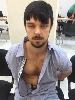 Ethan Couch, with his newly-dyed hair after being captured in Mexico. Picture: Mexico's Jalisco state prosecutor's office via AP