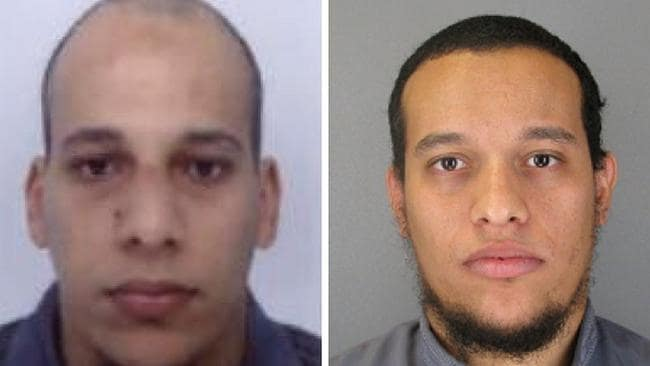Cherif Kouachi (L), aged 32, and his brother Said Kouachi (R), aged 34, are wanted in connection with an attack at satirical weekly Charlie Hebdo in Paris.