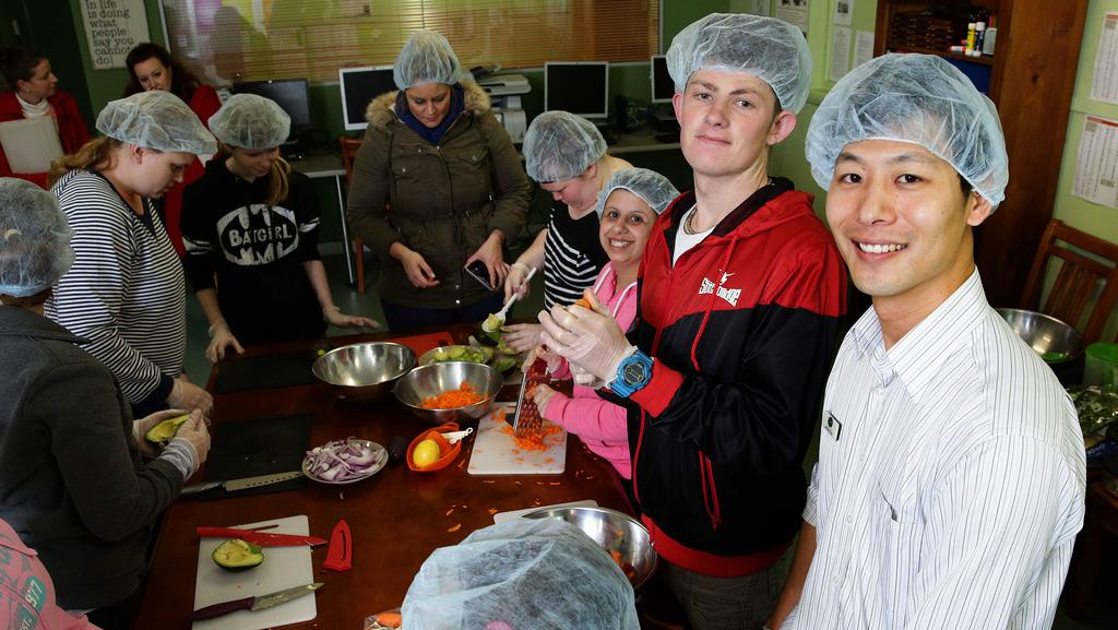 how to teach adults with a disability to cook