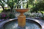 A bird bath fountain forms a wonderful feature in Dianne Michalk's garden. Picture: Tricia Watkinson