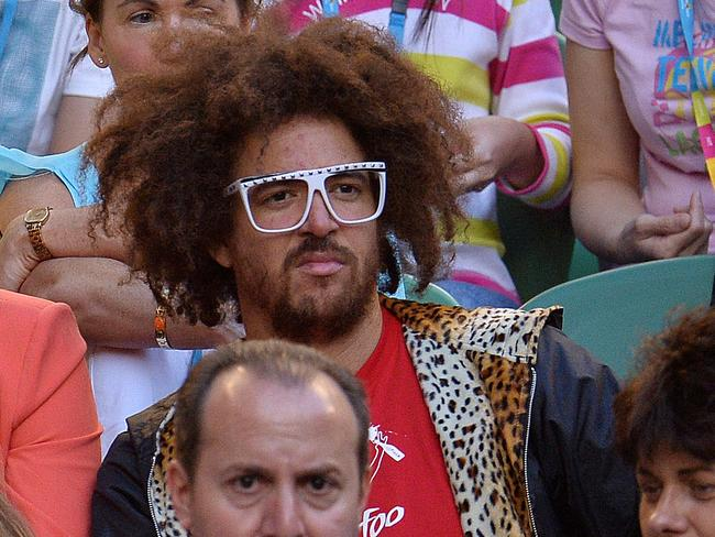 Red Foo at the Australian Open tennis tournament in January.