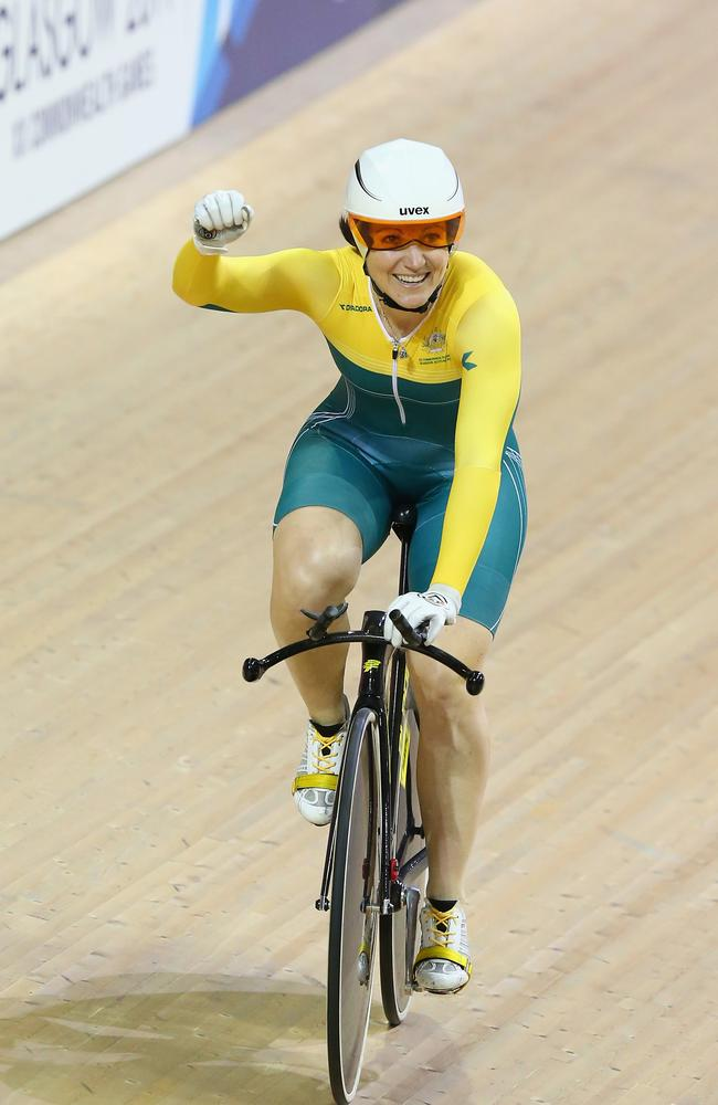 The smile said it all after Anna Meares' time trial win.