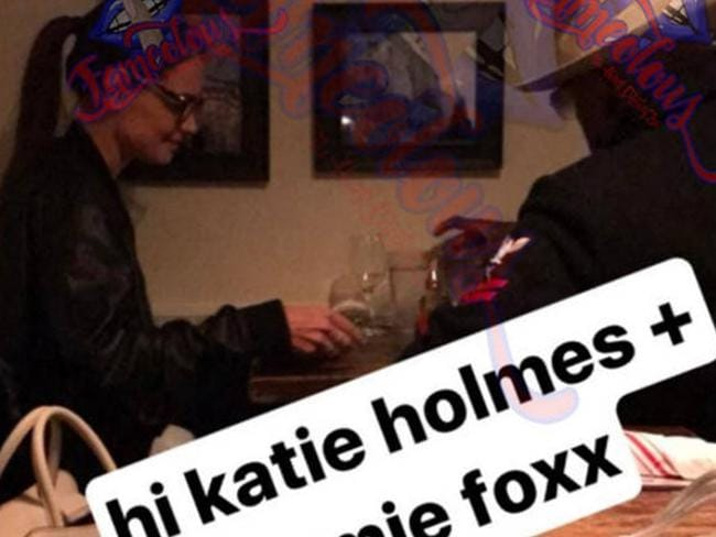 Katie Holmes and Jamie Foxx spotted together in NYC in April 2017. Picture: Instagram