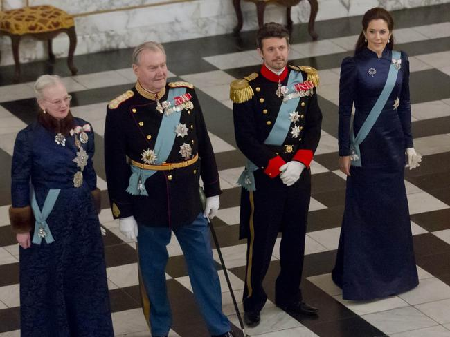 Queen Margrethe, Prince Henrik, Prince Frederik and Princess Mary, pictured in 2014. Picture: Getty Images
