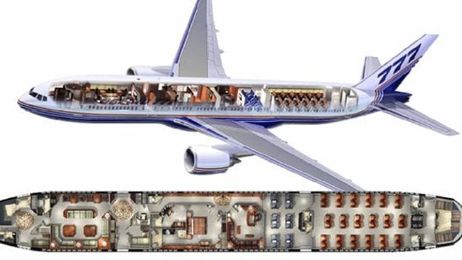 First among equals ... This 777 concepts places the Prime Minister up front, and the Canberra Press Gallery up the back.