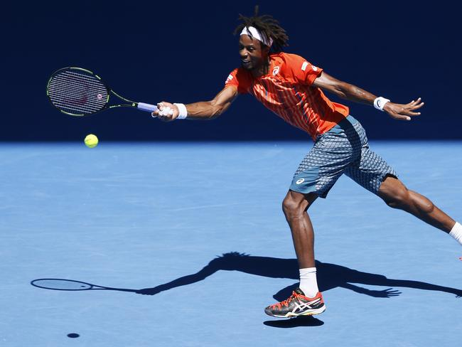 Gael Monfils pulled out the bag of tricks.