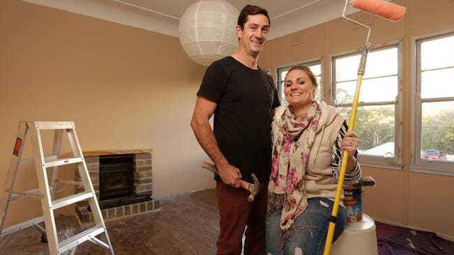 With a little financial help from mum and dad ... Ian and Leigh Putteril at their new home in Sydney.