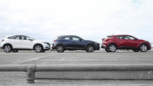 Mini Suv Comparison Toyota C Hr V Mazda Cx V Honda Hr V