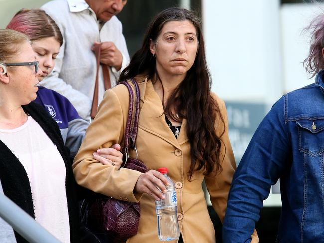 Aaron Pajich's mother Sharon leaves court. Picture: Colin Murty/The Australian