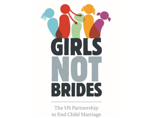 Child brides ... Logo of the NGO Girls Not Brides. An organisation campaigning for an end to the practice of child marriage world wide. Picture: Supplied.