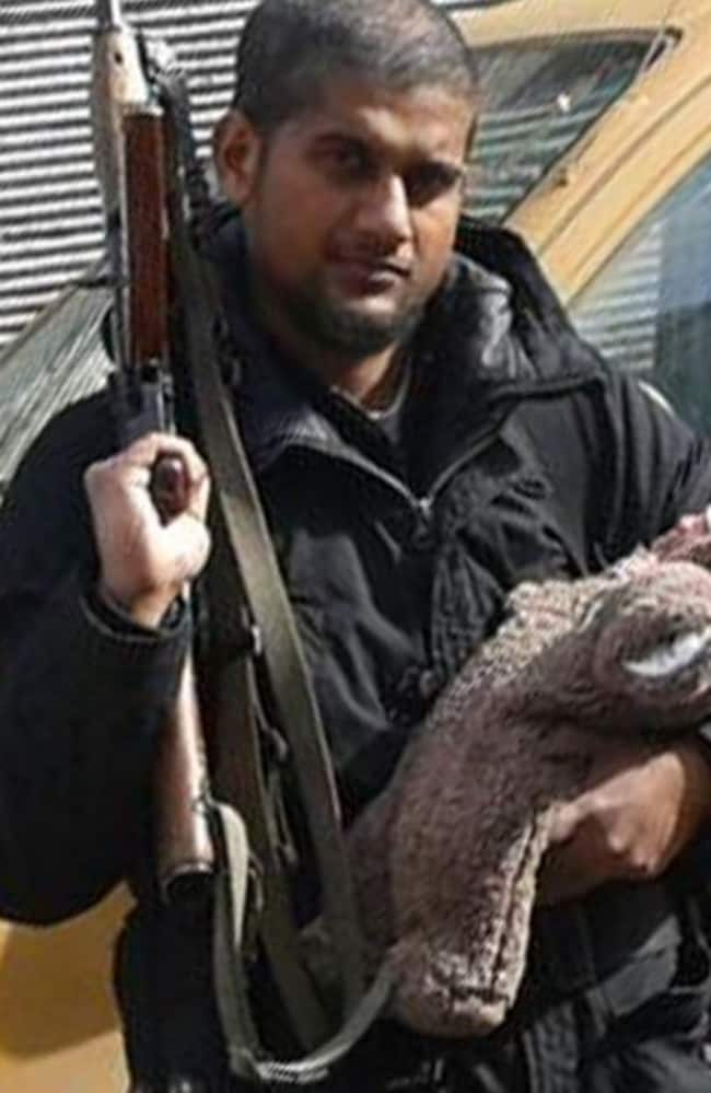 Ex-bouncing castle salesman ... British media claims the masked executioner in the latest ISIS video bears a striking resemblance to Siddhartha Dhar from London. Picture: Twitter
