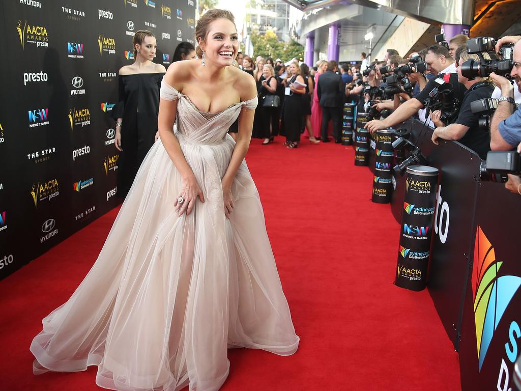 Melina Vidler arrives ahead of the 5th AACTA Awards Presented by Presto at The Star on December 9, 2015 in Sydney, Australia. Picture: AAP