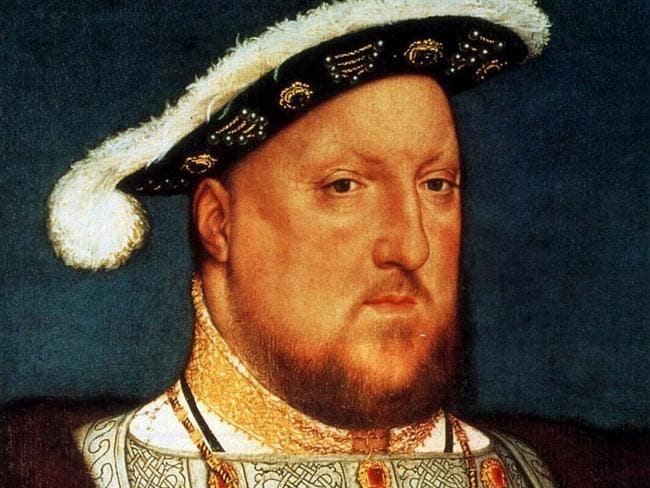 King Henry VIII wrote the preface for England's first printed bible. Picture: Supplied