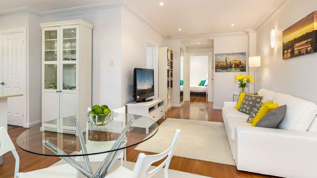 An interior view of 9/295 Lilyfield Rd, Lilyfield. The two-bedroom property sold $100,000 above the reserve price.