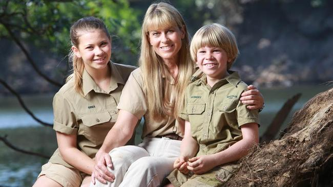 Wildlife warriors ... Bindi, Terri and Robert Irwin have carried on the conservation efforts of the late Steve Irwin.