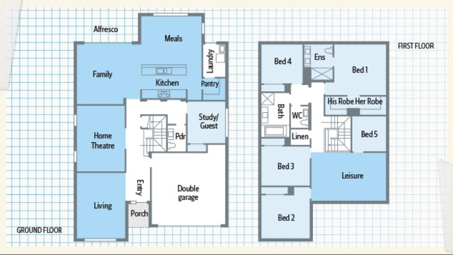 The Sheridan 34 floorplan.