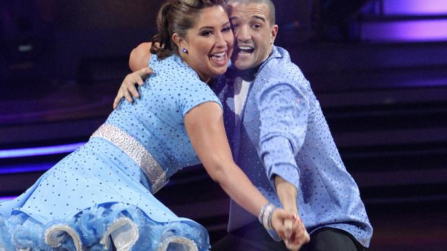 Bristol Palin and her partner Mark Ballas on 'Dancing with the Stars' in Los Angeles, California. Picture: AP.