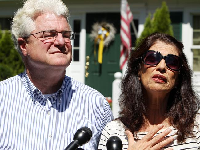 Heartbroken ... Diane and John Foley, the parents of beheaded journalist James Foley, want their son to be remembered as a courageous 'martyr for freedom'. Picture: AP