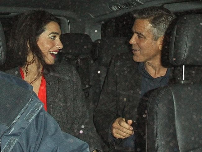 George Clooney and Amal Alamuddin out and about in London.