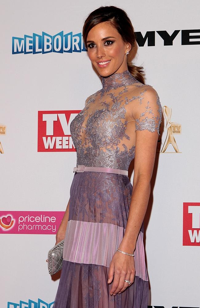 Rebecca Judd arrives at the 2014 Logie Awards at Crown Palladium