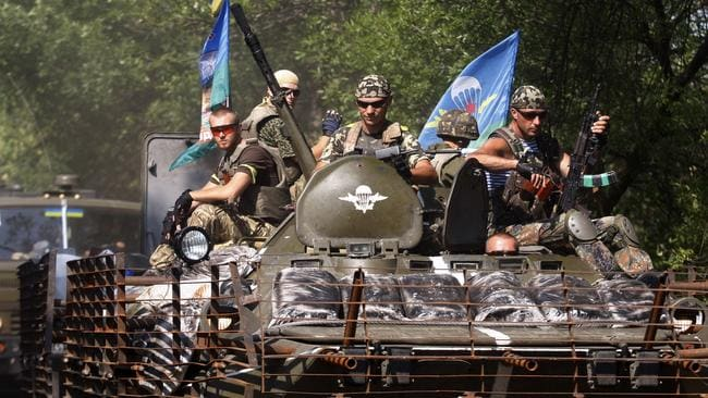 Ukrainian forces in the eastern Ukrainian city of Kramatorsk, on August 14, 2014. Photo: AFP.