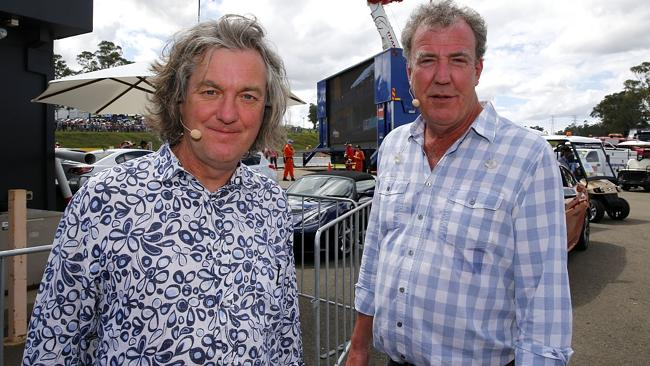 Jeremy Clarkson (at right) - you know when he's done a funny because you'll hear canned laughter. Picture: Bradley Hunter