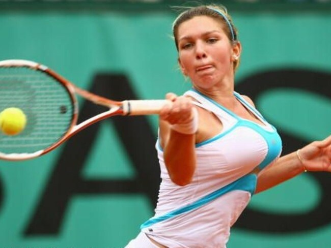 Simona Halep in 2009, before undergoing a breast reduction.