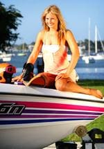 <p>Lauryn Eagle , Australian water ski champion who is returning to racing. Eagle gave up after skiing after her father Peter Eagle died in a boating accident on Sydney Harbour. Pictured at Sylvania Waters. Pic. Craig Greenhill</p>