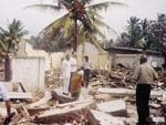 <p>Tsunami Newcastle University lecturer Jamie MacKee visit to the destroyed maternity clinic in Sri Lanka.</p>