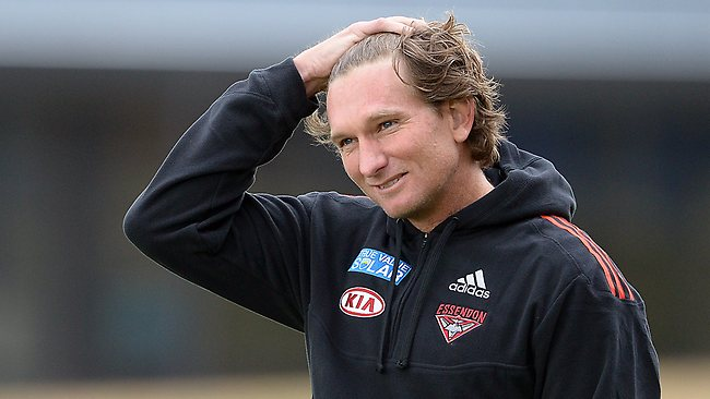 Essendon legend James Hird can see change for the better on the horizon. Picture: Wayne Ludbey