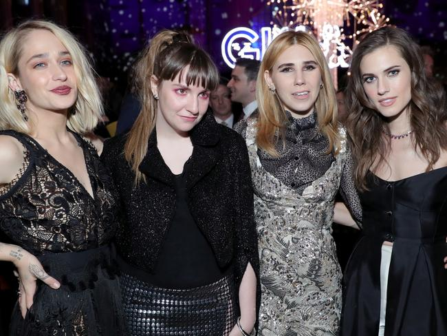 Actors Jemima Kirke, Lena Dunham, Zosia Mamet and Allison Williams who make up the cast of Girls. Picture: Neilson Barnard/Getty Images.