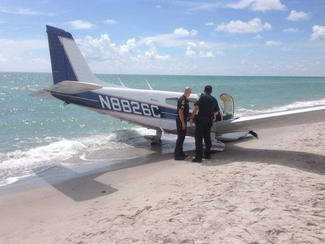 The man was killed and his young daughter critically injured when the single-engine plane crashed. Picture: Sarasota County Sheriff's Department