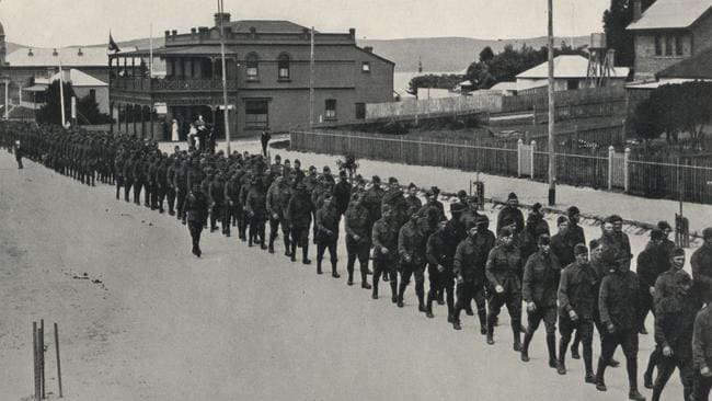 Historical images of Anzacs departing Albany in 1914. Picture: City of Albany.